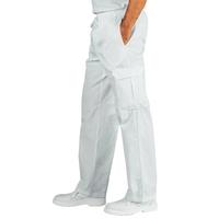 Pantalon Médical Blanc 100% Coton Taille Elastique