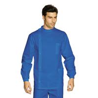 Tunique Médicale Dentiste Boutons Bleu 100% Coton