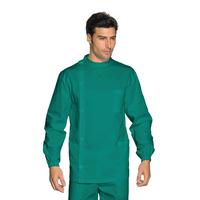 Tunique Médicale Dentiste Boutons Vert 100% Coton