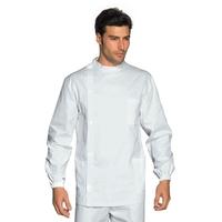 Tunique Médicale Dentiste Boutons Blanc 100% Coton