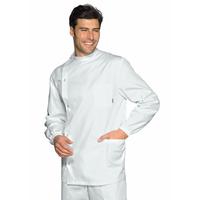 Tunique Médicale Dentiste Boutons Pression Blanc 100% Coton