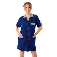 Blouse de Travail Manches ajustables York Bleu Foncé Rayé Bleu