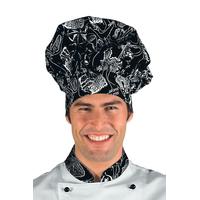 Toque de chef cuisinier noir blanc