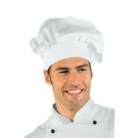 Toque de chef cuisinier  blanc