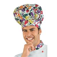 Toque de chef cuisinier blanc jaune