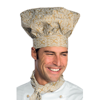 Toque de chef cuisinier blanc biscuit