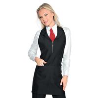 Tablier de service pour femme Madeira Avec Zip Noir