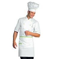 Tablier de cuisine Taille Cm 70x46 avec Poches Blanc Vert Pomme