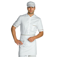 Tablier de cuisine Taille Cm 70x46 avec Poches Blanc tricolore