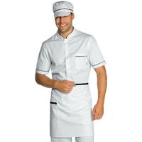 Tablier de cuisine Taille Cm 70x46 avec Poches Blanc Noir