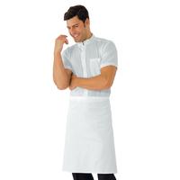 Tablier blanc de cuisine sans Poches 70 x 60 cm