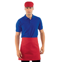 Tablier de cuisine  Taille Cm 70x46 avec Poches Rouge