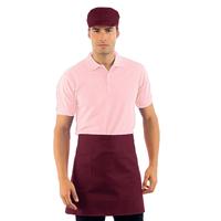 Tablier de cuisine Taille Cm 70x46 avec Poches Bordeaux