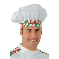 Toque de chef cuisinier blanc italy