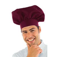 Toque de chef cuisinier bordeaux