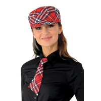 Casquette serveur sam  ecossais rouge