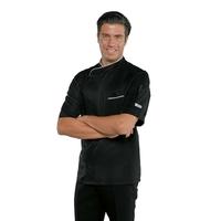 Veste de cuisine tissu anti taches et manches courtes Couleur noir
