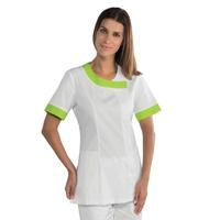 Tunique médicale Delhi blanche et verte