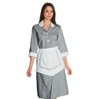 Ensemble Femme De Chambre 100% Coton Rayé Noir / Blanc