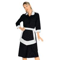 Blouse Femme De Chambre et Tablier Noir et Blanc 100% Coton