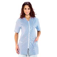 Tunique Médicale Victoria Blanc Rayé Bleu 100% Coton