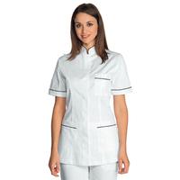 Tunique infirmiere Manches courtes Panarea Blanc Noir