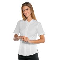 Chemisette blanche manches courtes pour Femme Stretch Confort