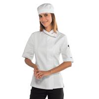 Veste cuisine italienne manches courtes pour Femme 100% coton