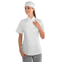 Veste de cuisine Femme à boutons pression 100% coton