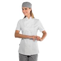 Veste blanche de cuisine Lady Chef 100% coton