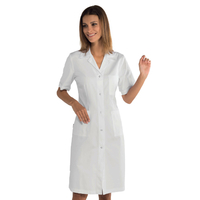 Blouse blanche médicale boutons pressions tissu ultra léger