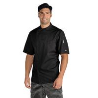 Veste Chef Cuisinier Noir Tissu Ultra Léger