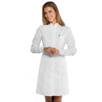 Blouse blanche médicale Femme poignets tricot
