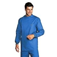 Tunique Dentiste Poignets Serrés Bleu 100% Coton