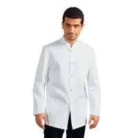 Veste De Service Col Mao Rayé Blanche 100% Polyester
