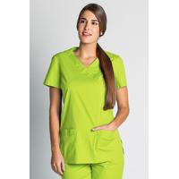 Blouse tunique médicale vert anis stretch