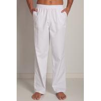 Pantalon médical blanc unisexe