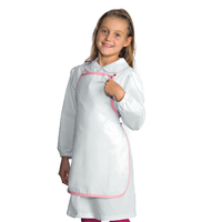 Tablier Enfant Blanc Rose