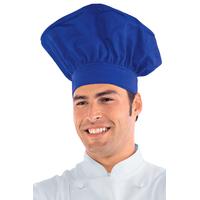 Toque de chef cuisinier bleu cyan