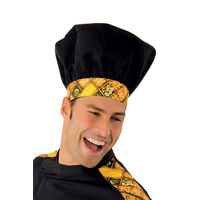 Toque de chef cuisinier noir pasta