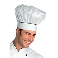 Toque de chef cuisinier blanc noir