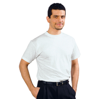 Tee-Shirt Homme blanc 100% Coton