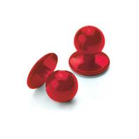 Lot boutons teune de cuisine 10 pièces, couleur rouge