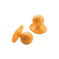 Lot 10 Boutons pour veste de cuisine couleur abricot
