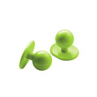Lots de 10 boutons pour vêtements de cuisine couleur vert pomme