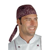 Toque bandana cuisine bordeaux imprime city 03