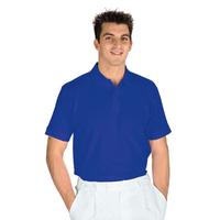 Polo manches courtes Bleu Cyan