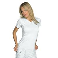 Tee-Shirt Femme Blanc Manches Courtes 100% Coton