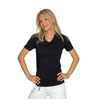 Tee-Shirt Femme Noir Manches Courtes 100% Coton