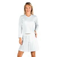 Tee-Shirt Femme Blanc Manches Longues 100% Coton